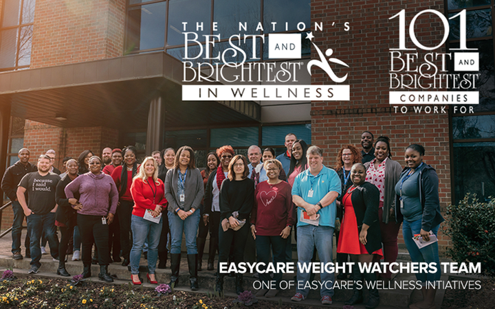 "EasyCare's dedication to its employees' wellbeing helped the company earn an NARB ""Best in Wellness"" workplace award. 