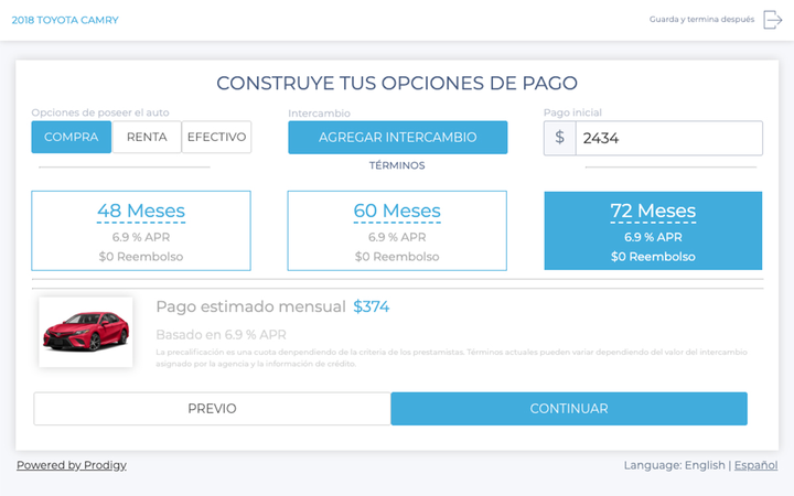 Online retail solutions provider Prodigy has released a Spanish-language version of its core platform. 