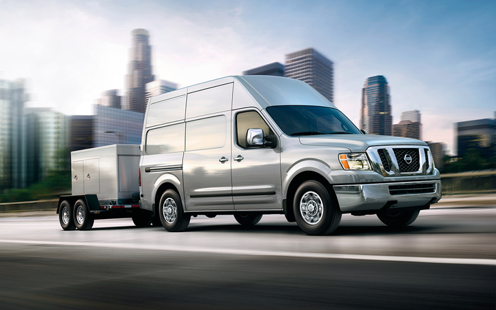 Vans such as the 2019 Nissan NV Cargo accounted for more than one-third of all commercial-vehicle searches on Work Truck Solutions' platform last year. 