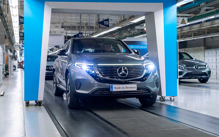 The upcoming 2020 Mercedes-Benz EQC is among the parade of new all-electric models set to enter the North American market, representing an industrywide investment IHS Markit analysts say will help U.S. EV sales grow 543% by 2026. 