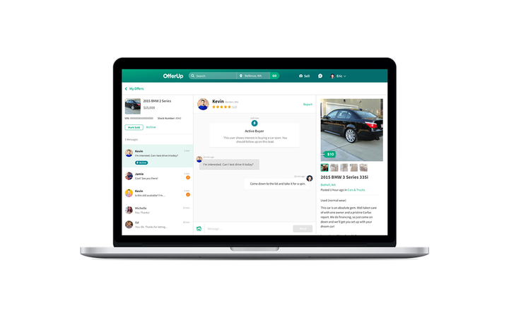 OfferUp's Hot Lead Indicator was designed to help dealers target down-funnel car buyers.