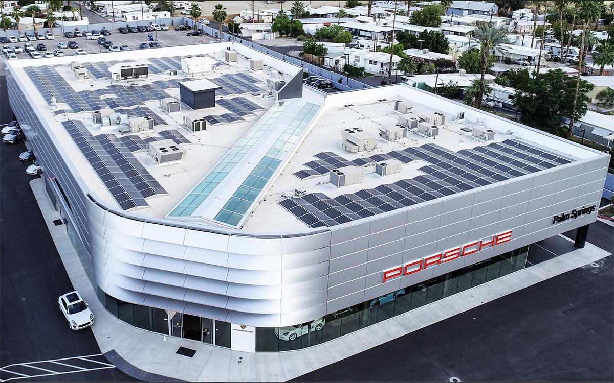 Porsche Palm Springs Gets Solar System