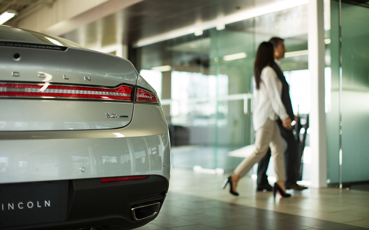 Factory executives have cited research showing the majority of luxury-vehicle buyers prefer to shop in dedicated spaces as they urge Ford dealers to build standalone Lincoln showrooms.   - Photo courtesy Lincoln Motor Co.
