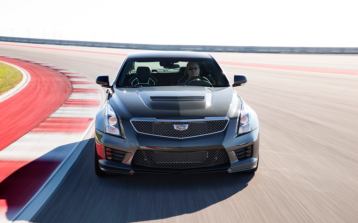 """The high-performance ATS-V is one of six models offered under """"The Book by Cadillac,"""" a subscription plan The Wall Street Journal reports will end Dec. 1. General Motors says the cancelation is actually a hiatus.   - Photo courtesy General Motors Co."""