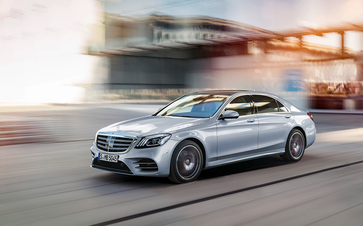 The S-Class is among the Mercedes-Benz models that feature available Magic Body Control, a camera-based road-scanning safety system. 