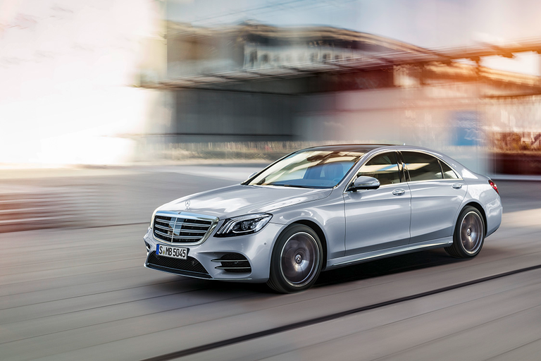 The S-Class is among the Mercedes-Benz models that feature available Magic Body Control, a...