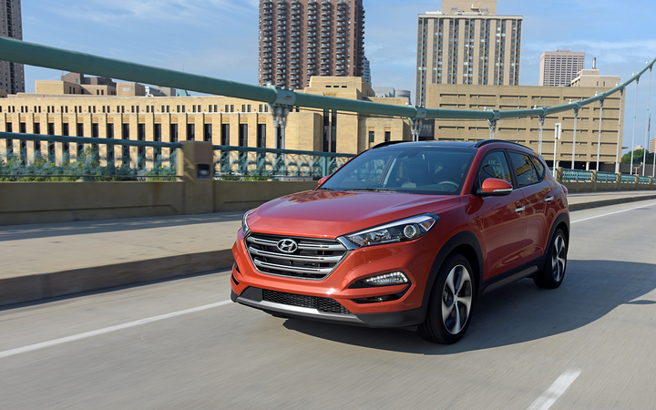 The 2017 Hyundai Tucson registered the lowest average check-engine repair cost in CarMD's latest rankings of brands and vehicles by reliability and repair affordability.   - Photo courtesy Hyundai Motor America