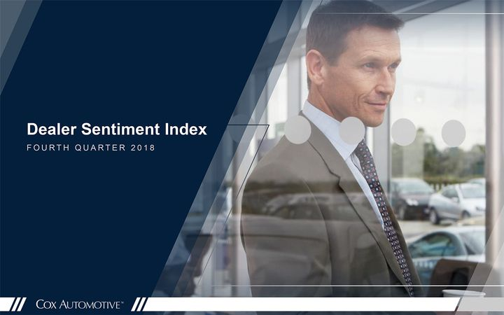 Cox Automotive analysts said declining optimism in the firm's Dealer Sentiment Index can be tied to threats of higher tariffs, slower traffic, and declining profitability. 