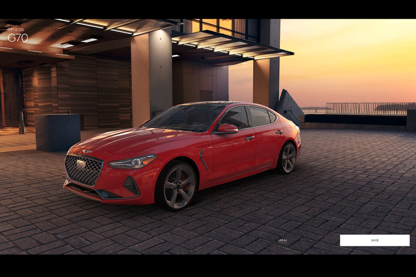 The Genesis virtual showroom includes a 3D configurator that uses CAD data taken directly from...