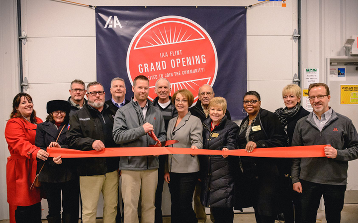 Employees and guests gathered to mark the grand opening of IAA Flint (Mich.), a new facility that replaces IAA Great Lakes in Bay City. 