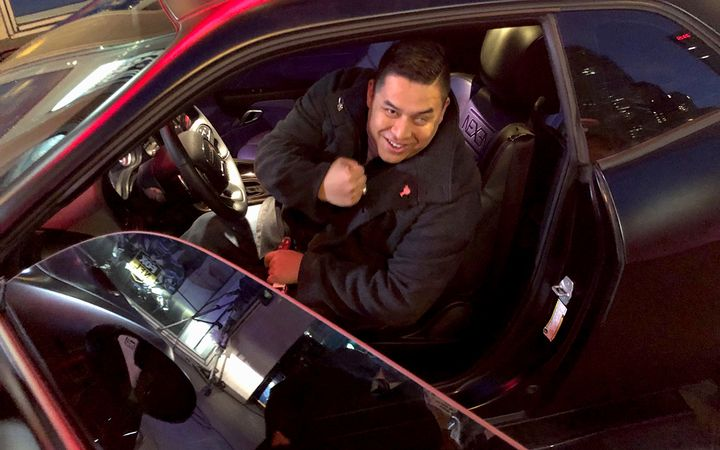 """Nexen Tire partnered with carbuilder Kenny Pfitzer of Zero to 60 Designs to customize a 2018 Dodge Challenger R/T for Iraq War veteran Steven Diaz, which he accepted live on """"Fox & Friends"""" on Fox News.   - Photo courtesy Nexen Tire"""