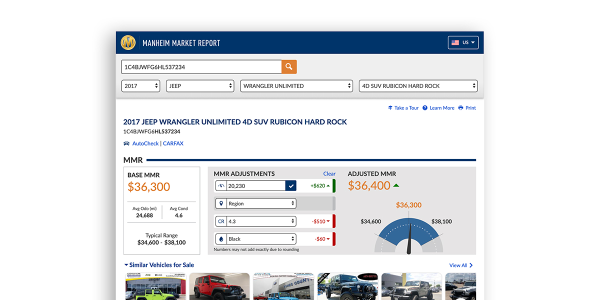 Dealers who log into Manheim Market Report using their Manheim credentials will find a new...