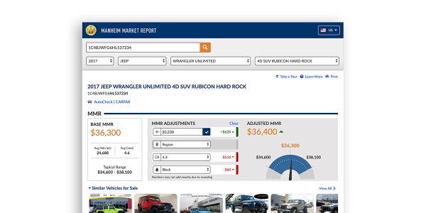 Dealers who log intoManheim Market Reportusing their Manheim credentials will find a new...