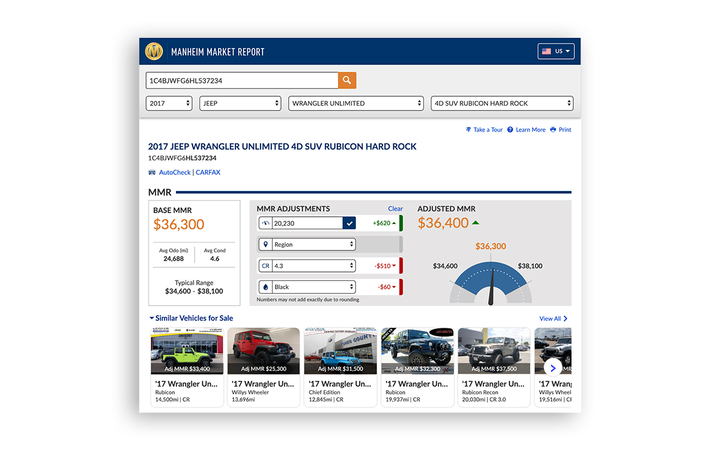 Dealers who log into Manheim Market Report using their Manheim credentials will find a new inventory recommendations feature. 