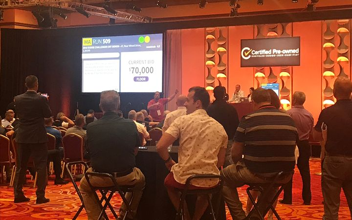 Fiat Chrysler's first annual CPO meeting included a live demonstration of ADESA's Simulcast online auction solution. 
