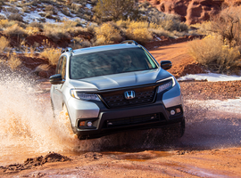 Honda reported a one-month record tally of nearly 174,000 units sold by U.S. dealers in August, led by best-ever months for the Passport (pictured) and CR-V.