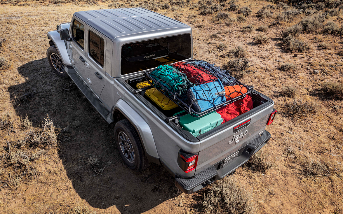 Jeep dealers will have access to such off-road accessories as this Mopar cargo carrier.