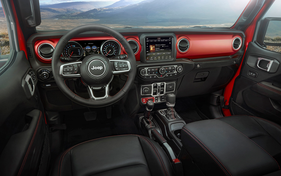 Gladiator buyers will choose between an eight-speed automatic transmission and a six-speed stick.