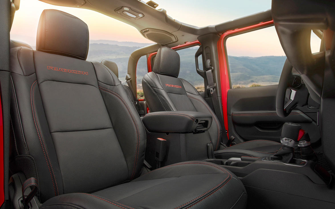 Available creature comforts include heated leather seats with adjustable bolster and lumbar...