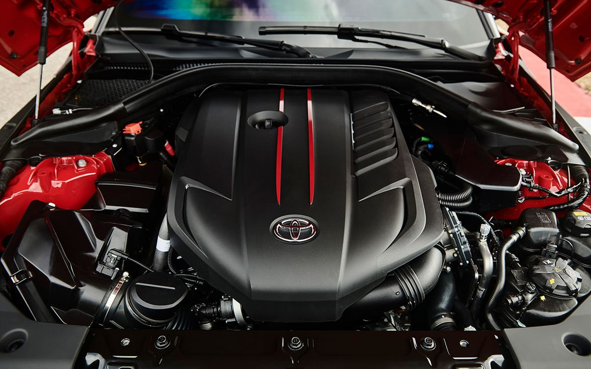 The 2020 Supra is powered by a 3.0-liter turbocharged I-6 delivering 335 horsepower, 365...