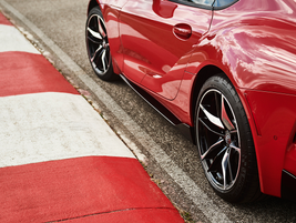 The Supra gets standard 19-inch forged alloy wheels and Michelin Pilot Super Sport tires. The...