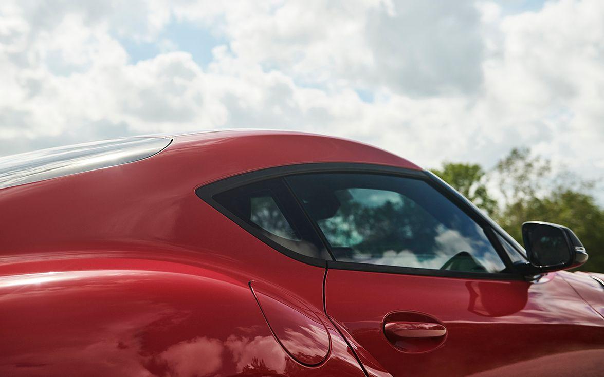 "The Supra's signature ""double bubble"" roof was designed to maximize headroom while minimizing..."