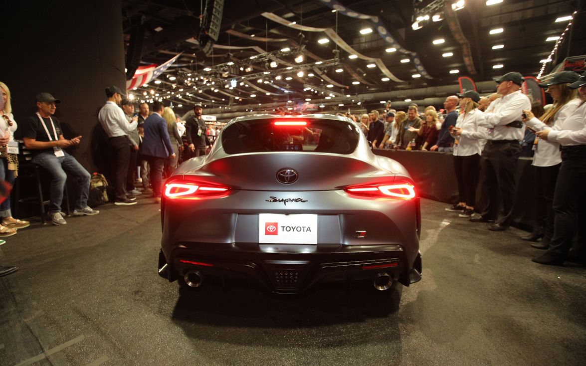 The first production model of the 2020 Supra is a special matte gray edition that sold for $2.1...