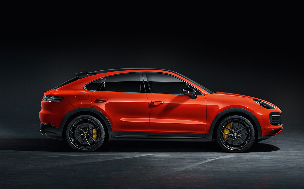 Porsche engineers achieved the new vehicle's coupelike stance by lowering the Cayenne SUV's...