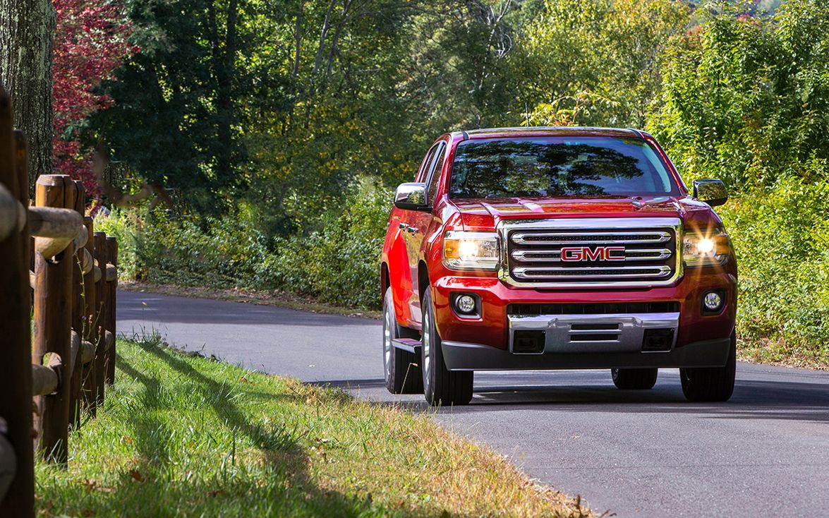 """2015–'19 GMC Canyon: """"The GMC Canyon is a great option for college graduates who like the idea..."""
