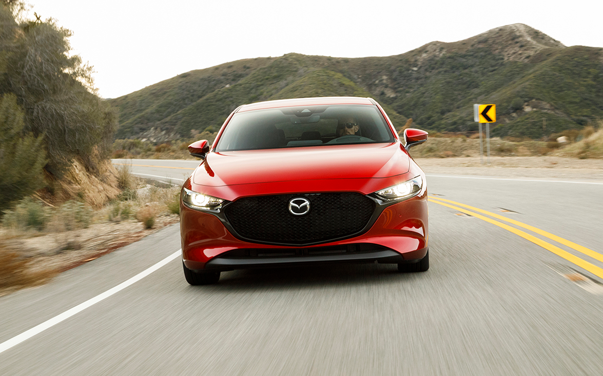 """4. Mazda3: """"Also all-new for 2019, with new features and a premium interior, the Mazda3 sedan..."""