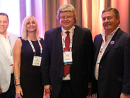 ACE's Gil Van Over (right) was joined by(from left to right) Hendrick Automotive Group's Jim...