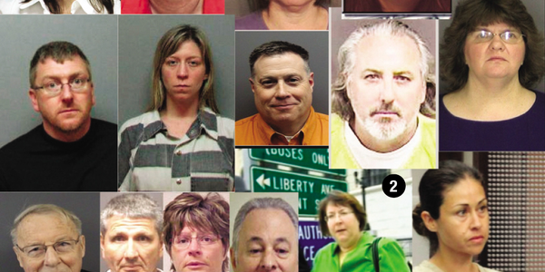 Pictured above are some people accused of embezzling from car dealers in the past five years,...