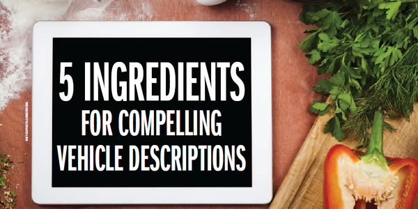 5 Ingredients for Compelling Vehicle Descriptions