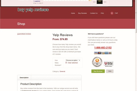 Yelp battles fraudulent activity on its site by initiating sting operations. If it sees a business trying to purchase reviews, a consumer alert pops up on the company's page for 90 days. Since October 2012, 150+ companies have been flagged.