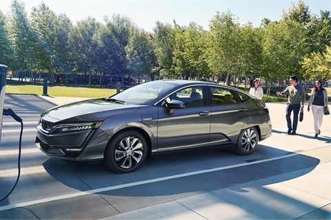 The author believes sales of electric vehicles such as the new Honda Clarity will soon become a priority for new-car dealers. Photo courtesy American Honda Motor Co.