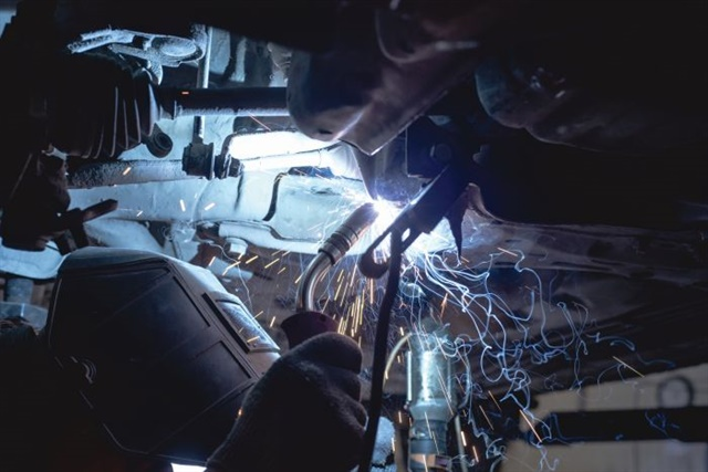 <p><strong>There is no law against welding two undamaged vehicles together, but attempting to hide the