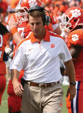 """Dabo Swinney is head coach of the Clemson Tigers and a former Alabama player and assistant coach. He and his team are """"All In,"""" dedicated to doing their jobs and equipping others to do theirs.Photo: Parker Anderson/Flickr"""