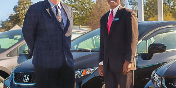 Ecommerce Director Rico Glover (right) and General Manager Tim Roussell are driving a...