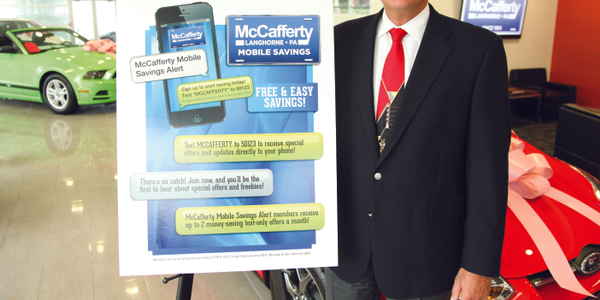 Todd Buch, president of McCafferty Auto Group, is using a new mobile marketing channel to reel...