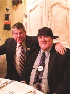 The author was invited to speak at a dinner honoring Brad Deery (left), Iowa's TIME Dealer of the Year for 2014 and a longtime friend. Ziegler joked that the committee gave Deery the award after learning that every other dealer in the state had already won it.