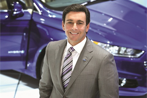 Twenty-five-year Ford veteran Mark Fields (top) is preparing to take over for departing chief executive Alan Mulally (below), who brought the company back from the brink of insolvency. The 2015 Ford F-150 will be Fields' first major product launch.