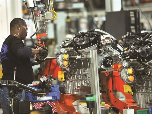 A worker mans a machine at Ford Motor Co.'s Cleveland Engine Plant. The OEM's plans to open another factory in Mexico have drawn the ire of Republican presidential candidate Donald Trump. Photo courtesy Ford Motor Co.