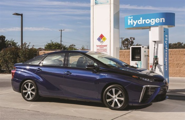 Toyota's new Mirai sedan runs on hydrogen fuel cells, a technology Ziegler predicts will supplant hybrid and pure-electric powerplants to become the alternative fuel of choice for manufacturers and car buyers.