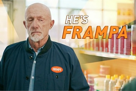 """Jonathan Banks of """"Breaking Bad"""" and """"Better Call Saul"""" fame stars as """"Frampa"""" in a new series of commercials for FRAM filtration products. Photo courtesy FRAM"""