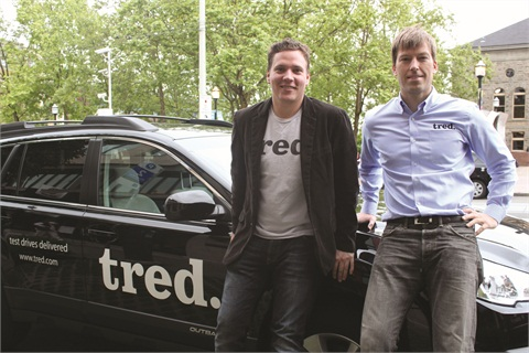 John Wehr (left) and Grant Feek (right) co-founded Tred in 2012. Wehr, the company's chief technology officer, spearheaded technology projects for HiiDef Inc., creators of Flavors.me and Goodsie.com.