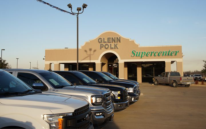 The Glenn Polk Supercenter serves as the group's standalone pre-owned operation.  -