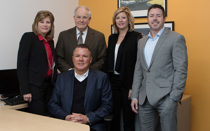 "Prince Automotive Group's leadership team includes (left to right) Prince Honda GM Heather Prince Stripling, second-generation dealer John B. Prince III, F&I chief Brad Richardson, advertising and marketing expert Heidi Prince Massey, and Vice President John B. ""Jay"" Prince IV. 