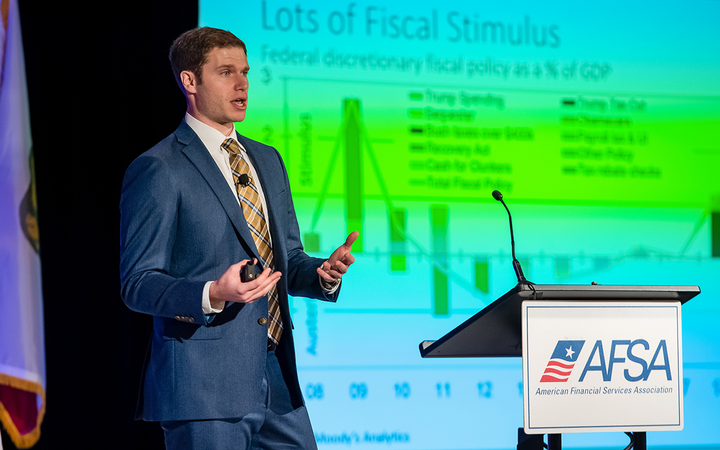 "Moody's Analytics' Alex Lowy said the combination of tax reform and increased government spending injected more ""federal money"" into the economy. 