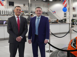 General Manager Jim Thorp (left) and Business Development Manager Greg Merchanthouse have driven...