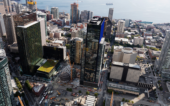 Amazon's still-growing Seattle headquarters includes everything from offices and workspaces to botanical gardens and retail shops. 